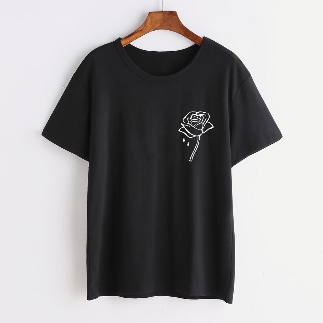da3acad92 LILICAT® Camiseta de dibujos animados para niñas adolescentes 2018 Moda de verano  Sexy de manga ...