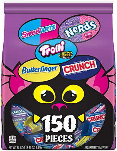 Ferrara Monster Bag Mix Variety Pack Individually Wrapped Candies, 150 Count, 58 Ounce Candy Bag