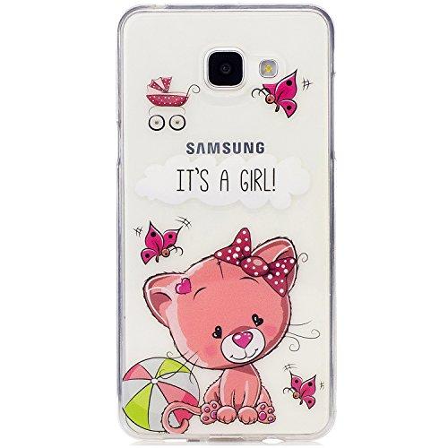 Funda Galaxy A5 2016, CaseLover Carcasa para Samsung Galaxy A5 2016 A510 (5.2 Pulgadas) Ultra Delgado Transparente Suave Silicona TPU Flexible Gel Protectora Cubierta Resistente a los Arañazos Tapa Li Oso