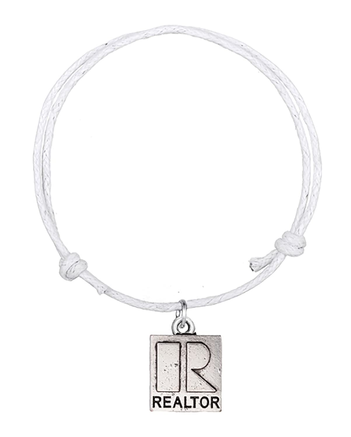Fashion Best-selling Lettering Bracelet Word Realtor R Charms Cuff Wristband Wax Cord Bangle