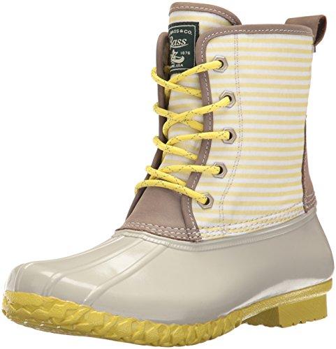 Bass Leather Boot - G.H. Bass & Co. Women's Daisy Rain Boot, Limoncello, 8 M US