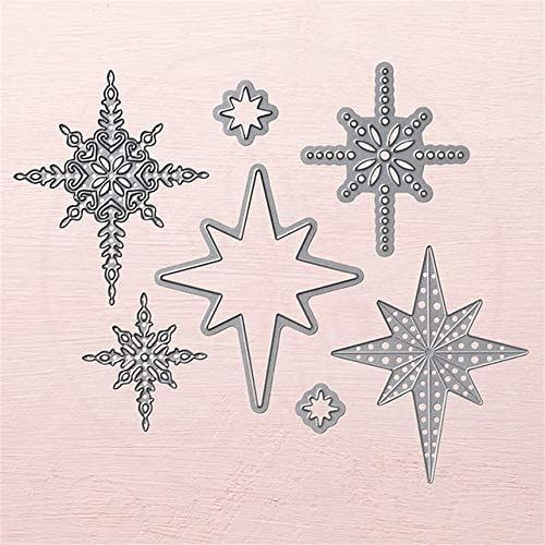 Amazon.com: Christmas Star Alphabet Cutting Dies Stamps New Clear Stamp Metal Diecuts for Scrapbooking Card DIY Craft Decor - Cutting Dies: Arts, Crafts & Sewing