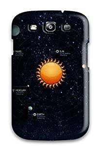 Protective Tpu Case With Fashion Design For Galaxy S3 (solar System)