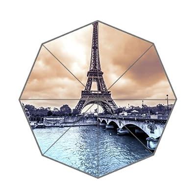 Impression Paris scape personnalisée pluie Parapluie pliable