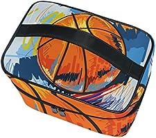 COOSUN Pintura de baloncesto cosmética bolsa de viaje Neceser Top ...