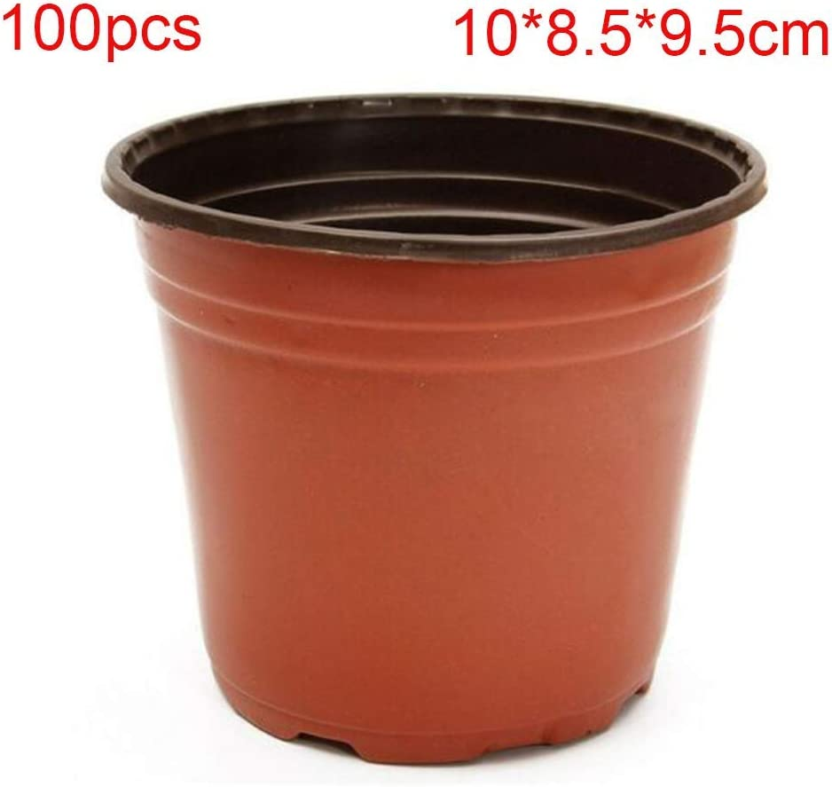 9x6x8cm MOOUK 100 Pcs Plastique Plantes D/émarreur Semis Pots Fleurs R/écipient Graines D/émarrer Pot Jardini/ère Jardin Maternelle Plantes Succulentes Pots Lavable R/éutilisable As Image Show