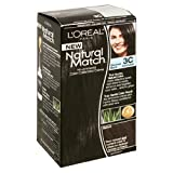 L'Oreal Natural Match No-Ammonia Color-Calibrated Creme, Blackest Black, 3C Cooler
