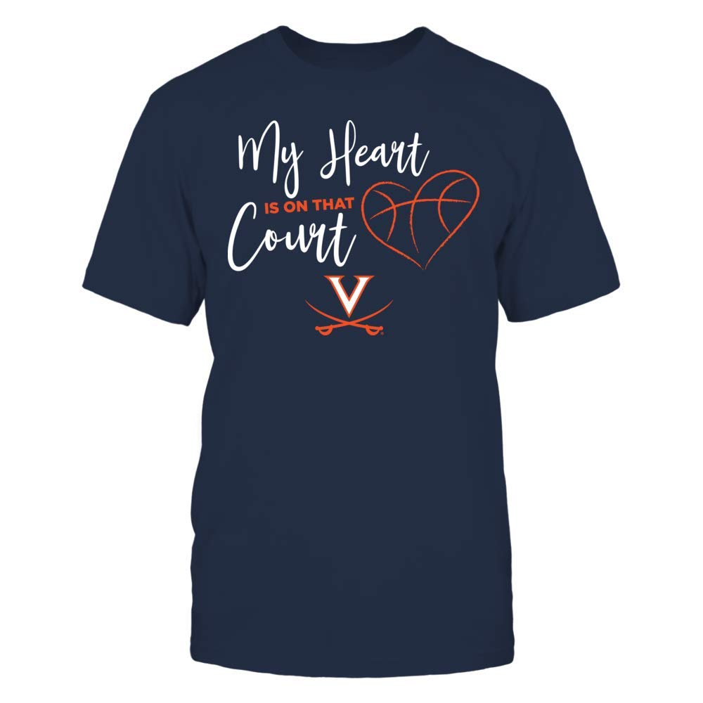 Official Sports Apparel FanPrint My Heart is On That Court Virginia Cavaliers