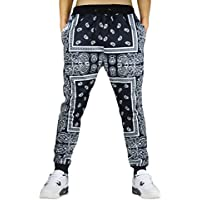 Cityoung Men's Fashion Printed Jogger Sweatpants Drop Crotch Sportswear