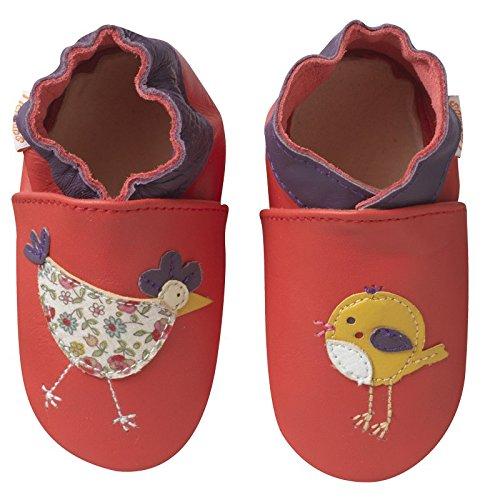 Tichoups chaussons bébé cuir souple juliette la poulette