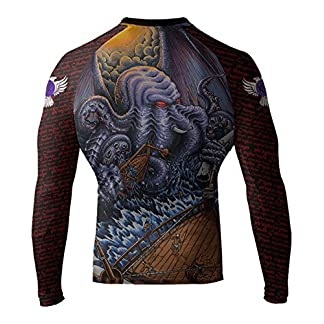 Raven Fightwear Men's Cthulhu MMA BJJ Rash Guard Black