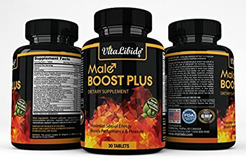 Male Boost Plus; Maximize Sexual Energy Naturally, Boost Performance & Pleasure Supplement for Men - 30 - Erectile Dysfunction Cialis