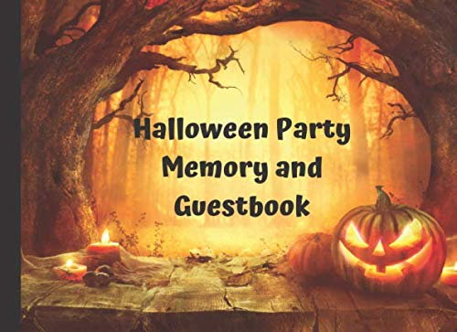 Halloween Party Memory and Guest Book: Fall Harvest Pumpkin Themed Party Sign In Book]()