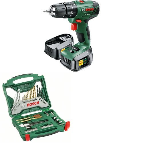 bosch psb 1800 li 2 cordless hammer drill driver with 2x 18v batteries and 50 ebay. Black Bedroom Furniture Sets. Home Design Ideas