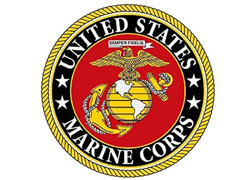 Ega Decal - USMC Sticker United States Marine Corps US EGA Military Car Auto Decal Bumper Window Sticker (3