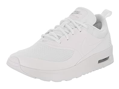 : NIKE Kids Air Max Thea (PS) White/White Metallic Silver