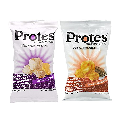 Protes   Protein Popcorn   12 Bags   10G of Protein & 0 Guilt   Gluten Free, Air Popped, Whole Grains & NON-GMO (Variety Pack)