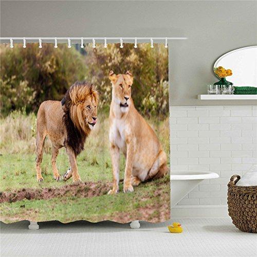 Woodland Animal Lions Shower Curtain Size 69x84 - Macys Woodlands
