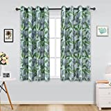 ITEXTILOGIE Blackout Grommet Print Curtains for Bedroom|Room Darkening Thermal Insulated Curtain Noise Reducing Panels Window Draperies for living room(2 Panels,53x96inch Each Panel,Elephant) Review