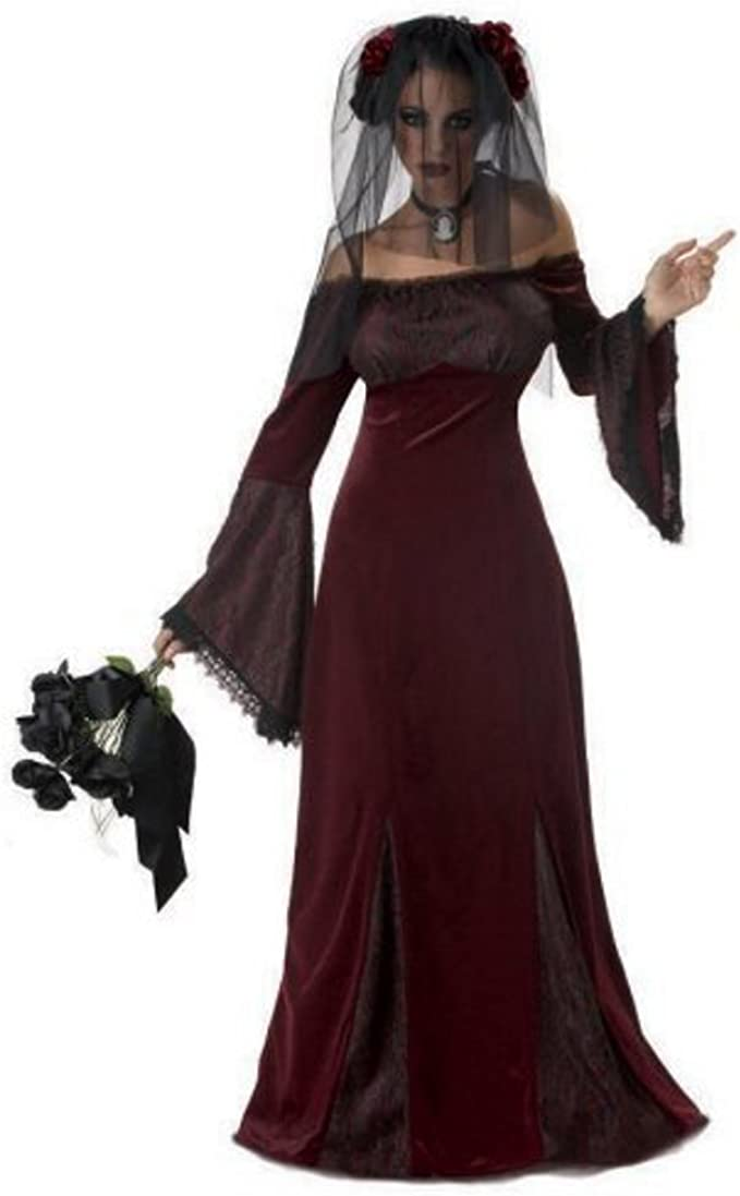 Beautiful Gothic Beauty Costume /'Til Death Do Us Part Dress Size Large