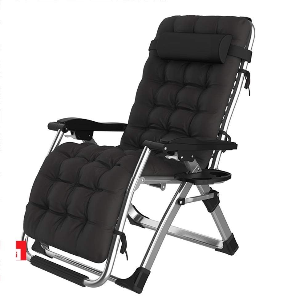 Folding Chairs ZR- Lounge Chair, Office Pregnant Woman Lunch Break Chair, Chair, Beach Chair, Portable Home Half Lying Nap Chair (Color : C) by Folding Chairs
