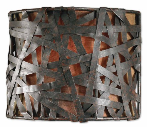 Uttermost Alita 1 Light Black Wall Sconce with Aged Black Metal With Rust Accents -