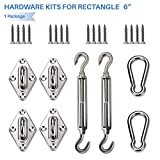 E&K Sunrise Installation Complete Hardware Kit- For Square and Rectangle  Installation- 6 Inches, Stainless Steel, -Super Heavy Duty Set of 1