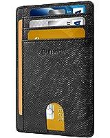 Slim Minimalist Leather Wallets for Men &...
