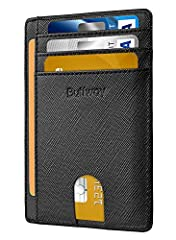 No-hassle 12 month free replacement guarantee for the Buffway wallet.              Most RFID blocking sleeves are bulky & difficult to carry when traveling, but this one has been designed with the modern traveler in mind. ...
