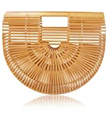 New 2018 Bamboo Handbag and Purse Handmade Beach Tote for Women by la Bambu (Small 11.25 x 3 x 9.5, Natural)