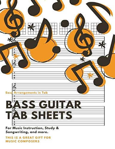 (Bass Guitar Tab Sheets: Blank Guitar Chord Notebook)