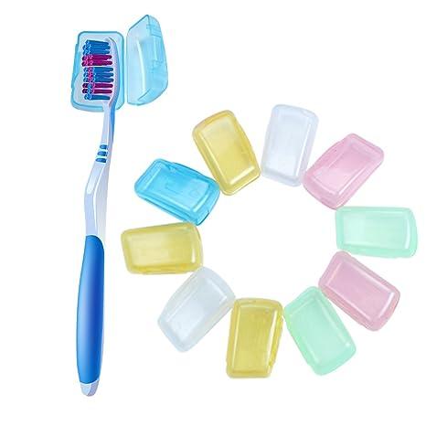 ETGtek Sostenedor de la caja 10pcs de la cubierta del cepillo de dientes de viaje que
