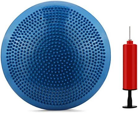 Cojín de aire para practicar estabilidad Wobble, azul, 33 cm ...