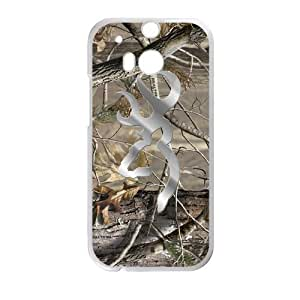 Hoomin Coolest Camo Browning Cutter Design HTC One M8 Cell Phone Cases Cover Popular Gifts(Laster Technology)