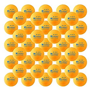 KEVENZ 50-Pack 3-Star Plus 40mm Orange Table Tennis Balls,Advanced Training Ping Pong Balls (Orange,3-Star,40mm)