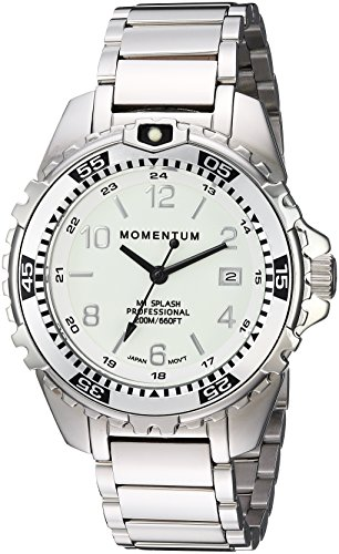 Women's Quartz Watch | M1 Splash by Momentum| Stainless Steel Watches for Women | Dive Watch with Japanese Movement & Analog Display | Water Resistant ladies watch with Date –Lume  / Silver Steel