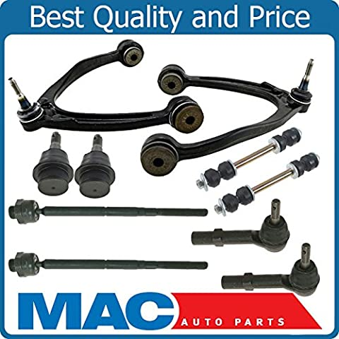 Control Arm Arms Ball Joints Inner Outer Tie Rod Ends Links For 07-14 GM Trucks With Steel Lower Control (09 Silverado Tie Rod)