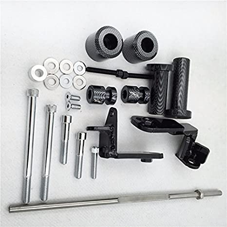 Amazon.com: Carbon Swingarm Spools Frame Slider for 99-07 Suzuki ...