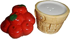 Pfaltzgraff Apple Basket Salt & Pepper Shakers