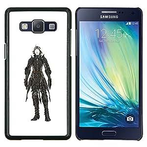 Planetar® ( Blanco Pintura Negro héroe Carácter ) Samsung Galaxy A5 A5000 Fundas Cover Cubre Hard Case Cover