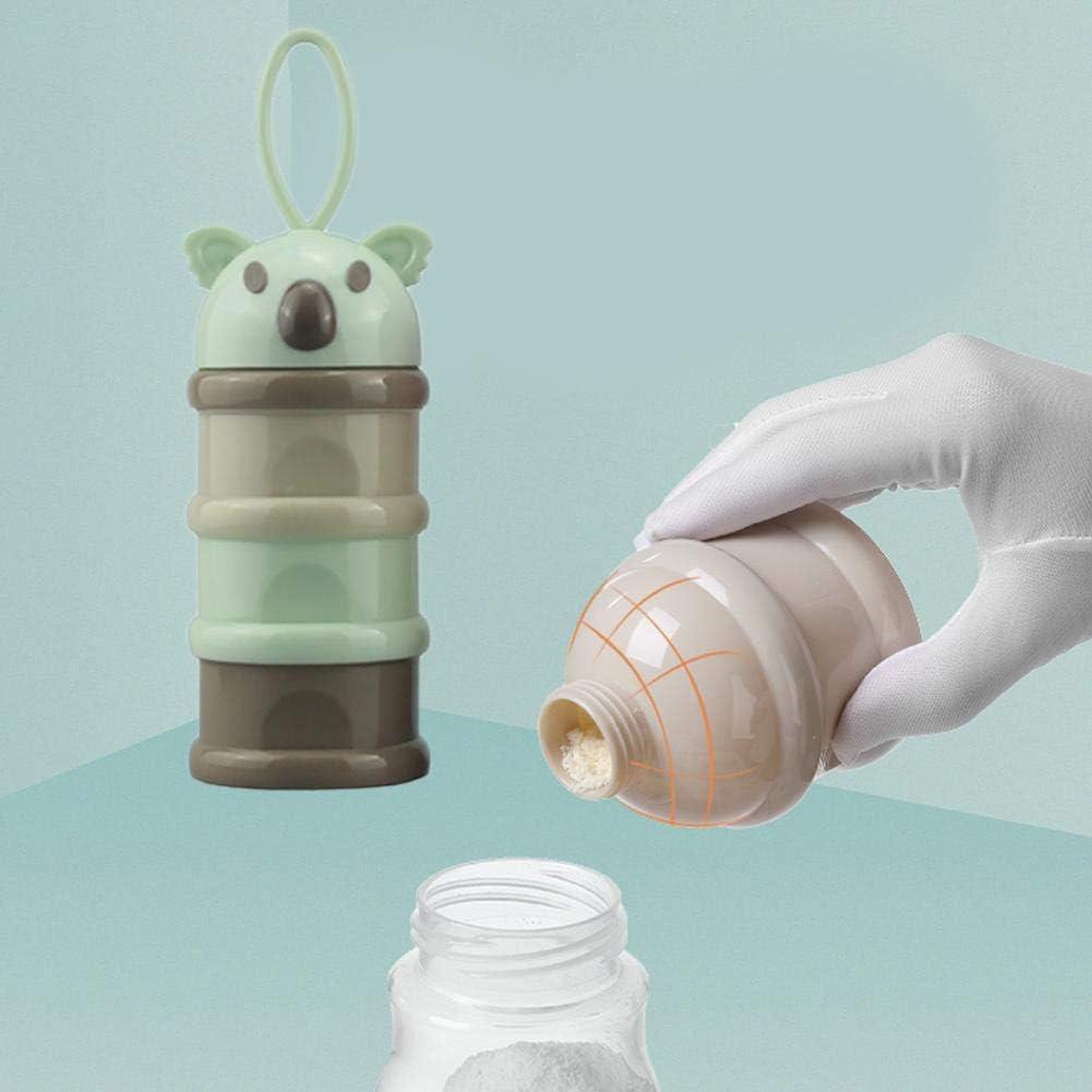 rosemaryrose Baby Spender Flasche Pulverbeh/älter Milch Travel Maker-Large Kapazit/ät Tragbare austauschbare Milch Pulver Box Baby Cartoon Seite offen 3-lagig-Milch Pulver Box Snack-Fall