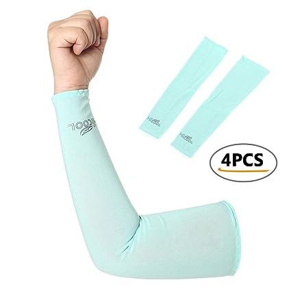 5ea0251f1 Pawaca - Mangas de refrigeración para Brazo con protección UV para Hombres,  Mujeres, niños