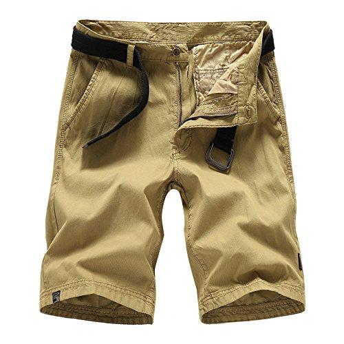 WDDGPZDK Strand Shorts/Sommer Feste Casual  Herren Shorts Cargo Shorts Men Baumwolle Arbeit  Herren Casual Shorts Männlich
