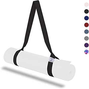 Yoga Mat Strap Carrier, Yoga Mat Holder Strap for Stretching, Adjustable Sling Straps for Carrying, Durable Polyester Cotton Straps Set Mats