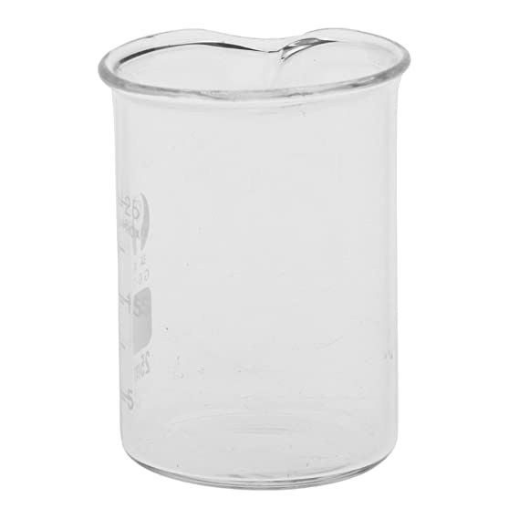 Compra Homyl Vaso Graduado de Vidrio Dispensador de Borosilicato Química de Laboratorio 10mL - 2000mL - 25 ML en Amazon.es