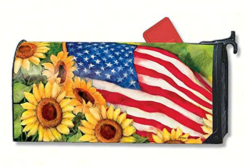 MailWraps American Sunflowers Mailbox Cover #01101