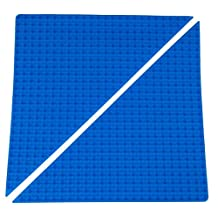 "Premium 15.5"" x 15.5"" Double Sided Right Isosceles Triangle Baseplate Mat 2 Pack - Blue Roll Up Base Plate with Large/Small Pegs - Compatible with All Major Large/Standard Size Brands - Patent Pending"