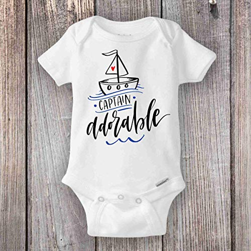 - Nautical Baby Onesie® Custom Baby Shower Gift - Sailor Baby Boy Sailboat Captain Adorable
