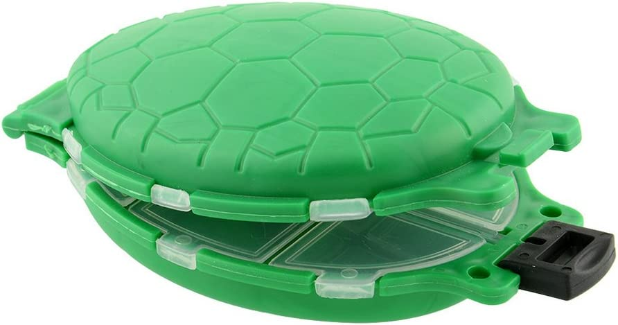 Plastic Turtle Fly Fishing Tackle Accessory Boxes With 12 lids Green wg-1 x 3pack