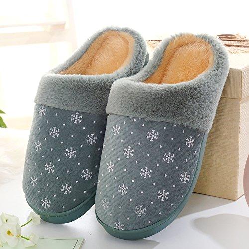 Cotone habuji uomini dinverno del sacchetto con cotone pantofole extra grande dimensione plus home scarpe di cotone Paolo, 39-40, verde